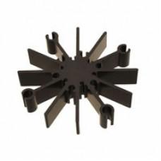 Алюминевый радиатор анодированный, d=70mm, h=12mm, до 6 Вт