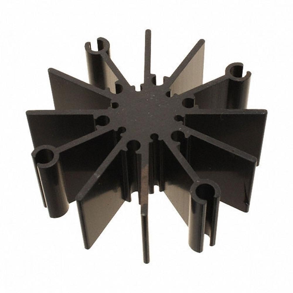 Алюминевый радиатор анодированный, d=70mm, h=25mm, до 12Вт