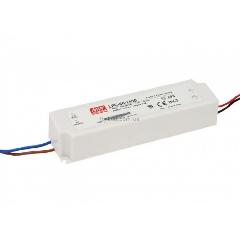 Светодиодный драйвер Mean Well LPC-60-1400