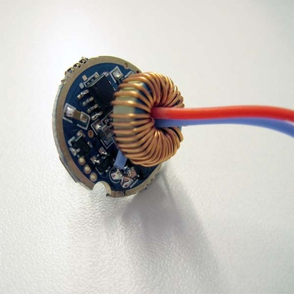 Драйвер фонаря с режимами, 5-12В, 2А, 22мм