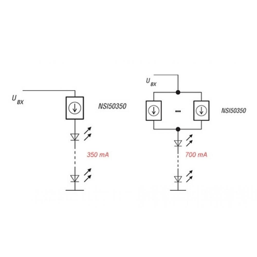 Линейный драйвер светодиодов NSI50350ADT4G