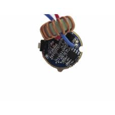 Драйвер фонаря с режимами, 5-12В, 2А, 22 мм с кнопкой