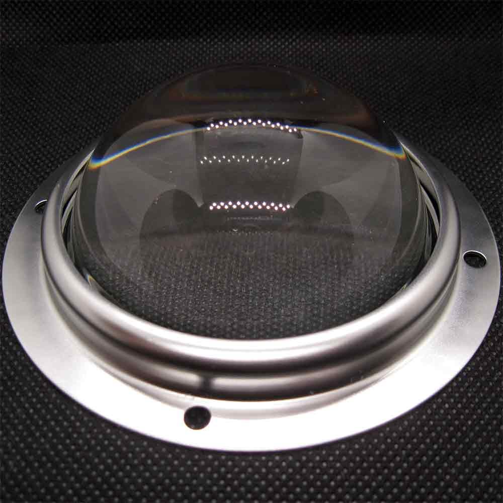 Линза для CXB3590, 90 градусов, прозрачное стекло, держатель и уплотнитель, d=78 mm, h=35 mm