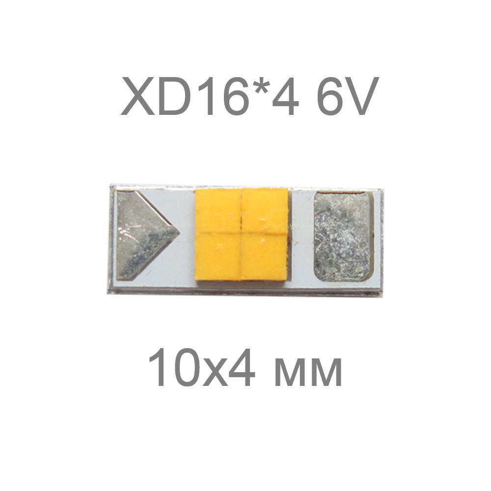 Cree XD16*4, 6V
