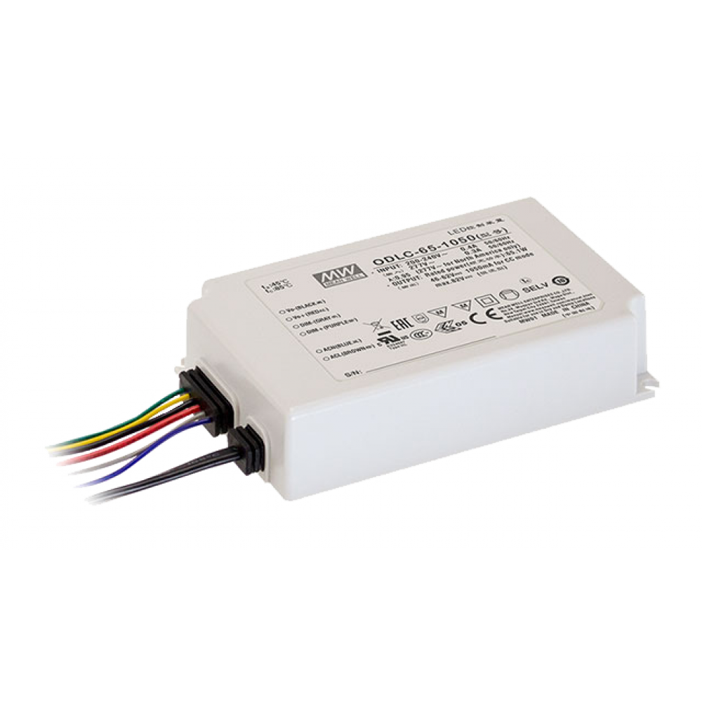Светодиодный драйвер Mean Well ODLC-65-1050